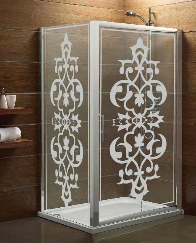 Naklejka mrożone szkło: Ornament