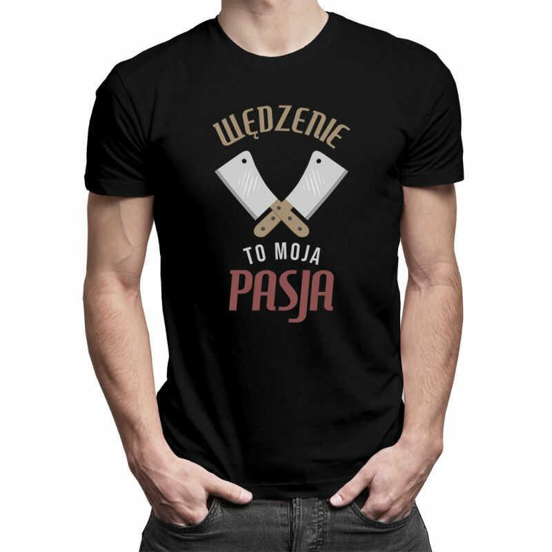 Wędzenie to moja pasja - męska koszulka z nadrukiem