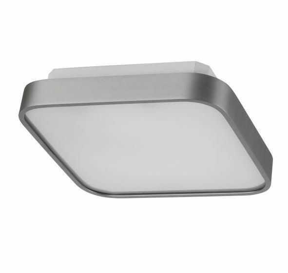 Plafon Quadro A AZ0202 AZzardo nowoczesna oprawa w kolorze aluminium