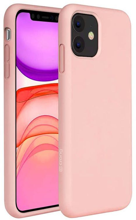 Crong Color Cover Etui Obudowa do iPhone 11 (Rose Pink)