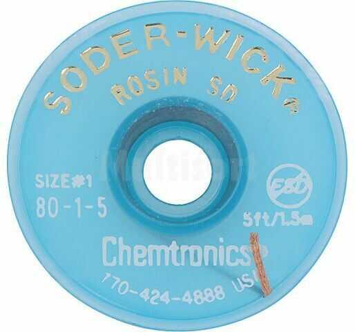 Taśma rozlutowująca CHEMTRONICS W:0,8mm L:1,5m