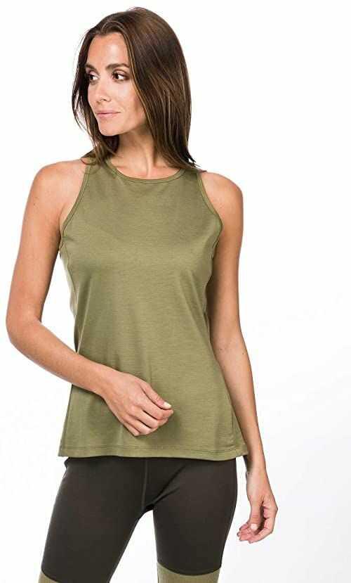 super.natural Damska koszulka z długim rękawem, z wełny merynosów, W JONSER LS zielony bambus M