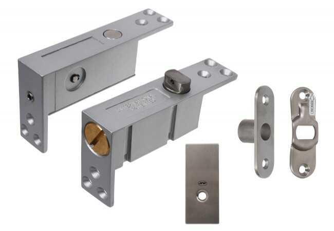 Zawias JNF/PIVOT wpuszczany typu pivot do drzwi drewnianych dwukierunkowych góra-dół (35-45mm, do 900 mm, do 45 kg)