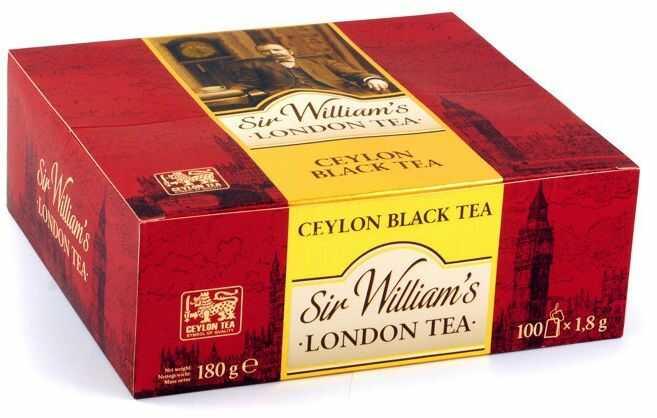 Sir Williams London, Herbata Ceylon Black Tea, saszetki 100 szt.