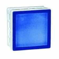 198 Cobalt Frosted satynowany z jednej strony pustak szklany luksfer