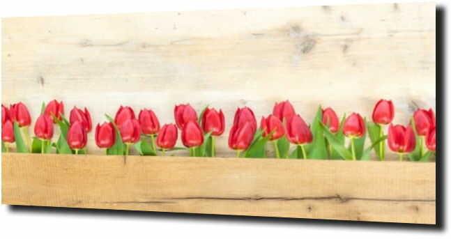 obraz na szkle, panel szklany Tulipany 19 120X60