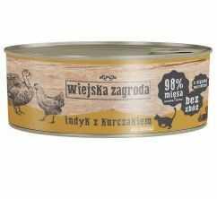 Wiejska Zagroda Indyk z Kurczakiem Dla Kociąt 85 g