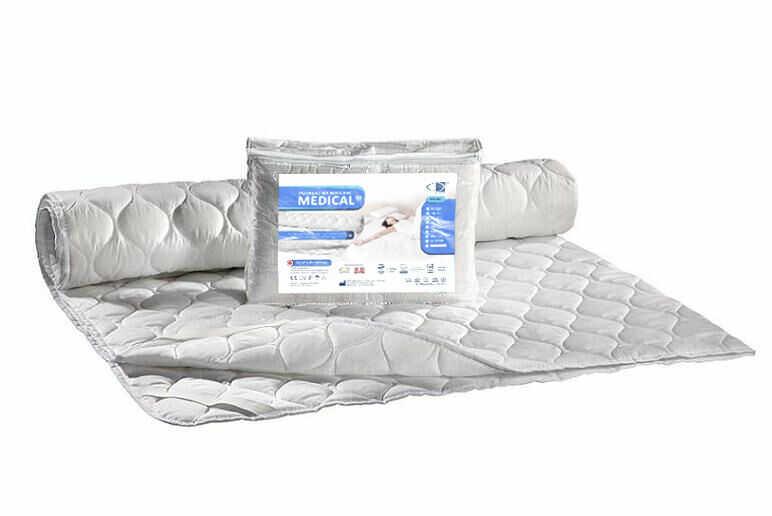 Podkład na materac antyalergiczny 120x200 Medical biały z gumką AMW