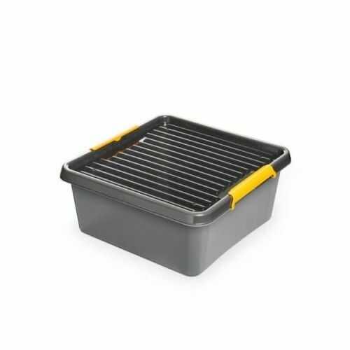 Pojemnik do przechowywania zamykany 400x165x400mm 18,0l ORPLAST SOLIDSTORE BOX szary 1 szt (BL) /OR-1612/