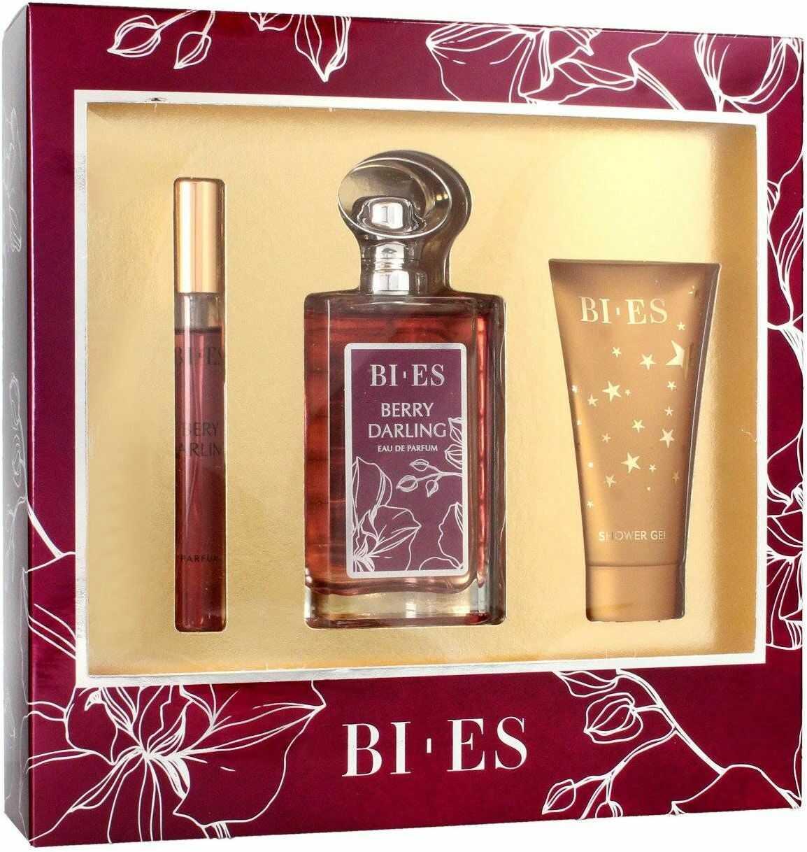 Bi-es Berry Darling Komplet (woda perfumowana 100ml+parfum 12ml+żel pod prysznic 50ml)