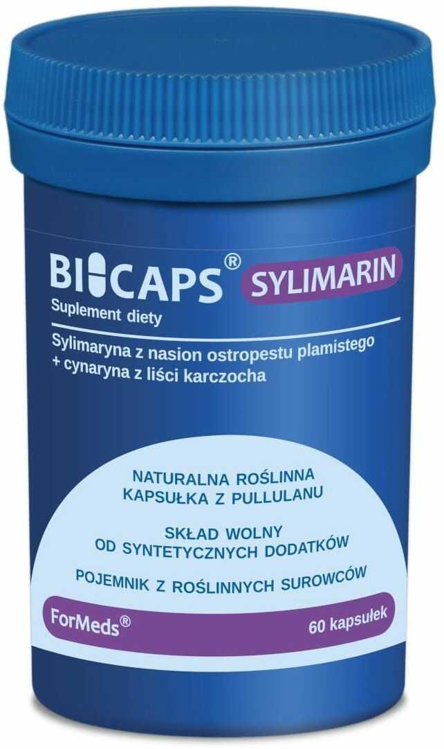 BICAPS Sylimarin Ostropest Karczoch (60 kaps) Sylimaryna Cynaryna ForMeds