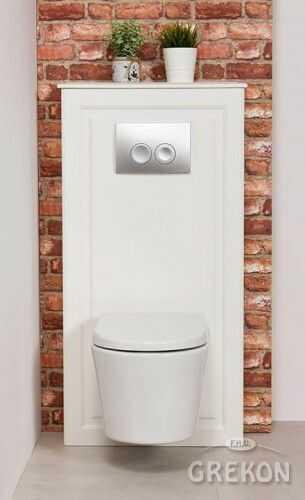 Zabudowa stelaża WC biała, Gante Finea