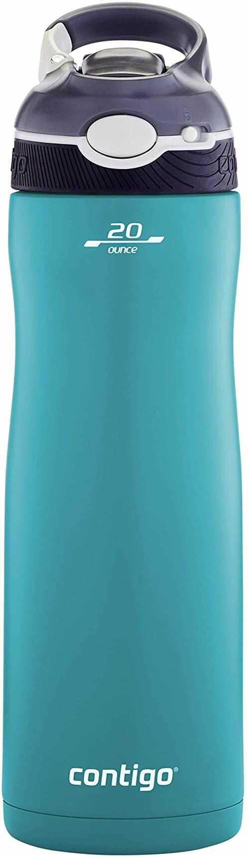 Contigo Ashland Chill butelka na wodę z klapką, butelka termiczna ze stali nierdzewnej, butelka próżniowa, szczelna butelka na siłownię, idealna do uprawiania sportu, 590 ml