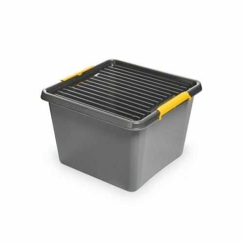 Pojemnik do przechowywania zamykany 400x260x400mm 32,0L ORPLAST SOLIDSTORE BOX szary 1 szt /OR-1622/