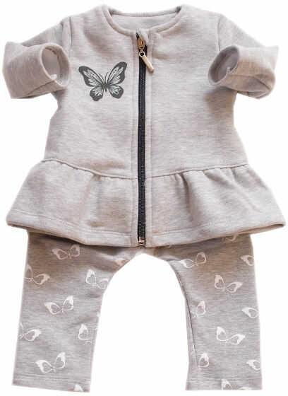 Dres dla dziewczynki Motylek bluza i spodnie