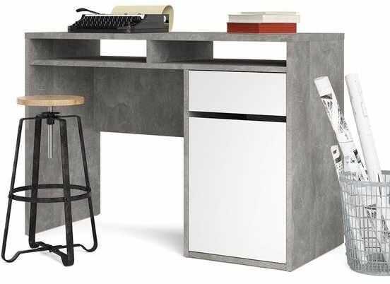 Biurko function plus 1d1s beton/biały połysk