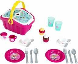 Theo Klein 9527 9527-BARBIE kosz piknikowy z akcesoriami, zabawką, różowy
