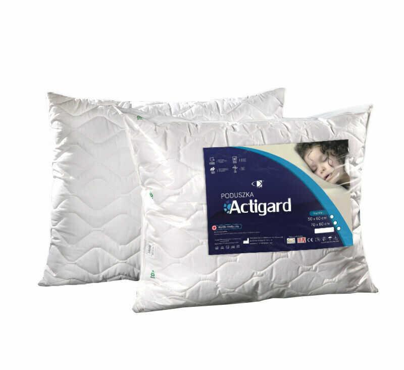 Poduszka antyalergiczna 50x60 Actigard 0,45 kg biała 100% bawełna wykończona substancją antybakteryjną Actigard AMW