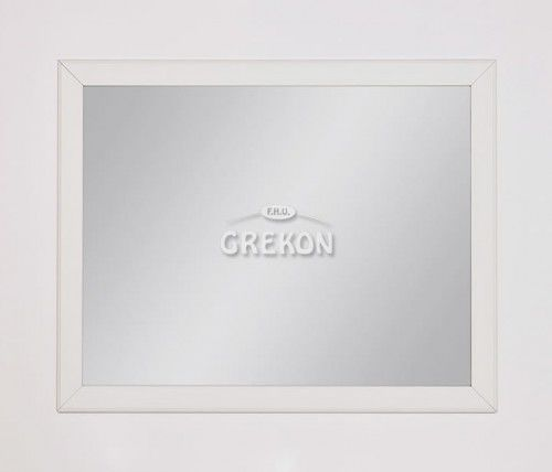 Lustro łazienkowe białe 100x80cm, Styl Skandynawski, Gante Finea