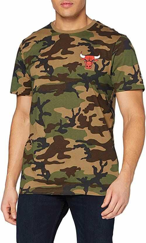 New Era Męska koszulka Nba Camo Tee Chibul Wdc z krótkim rękawem, XS