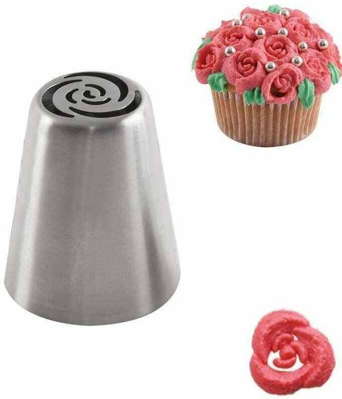 Tylka rosyjska, cukiernicza, stalowa, końcówka do dekoracji, róże
