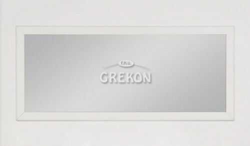 Lustro łazienkowe białe 150x65cm, Styl Skandynawski, Gante Finea