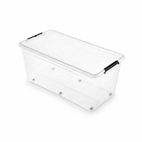 Pojemnik do przechowywania zamykany na kółkach 390x350x760mm 75,0L ORPLAST SIMPLE BOX transparentny 1 szt /OR-1832SB/
