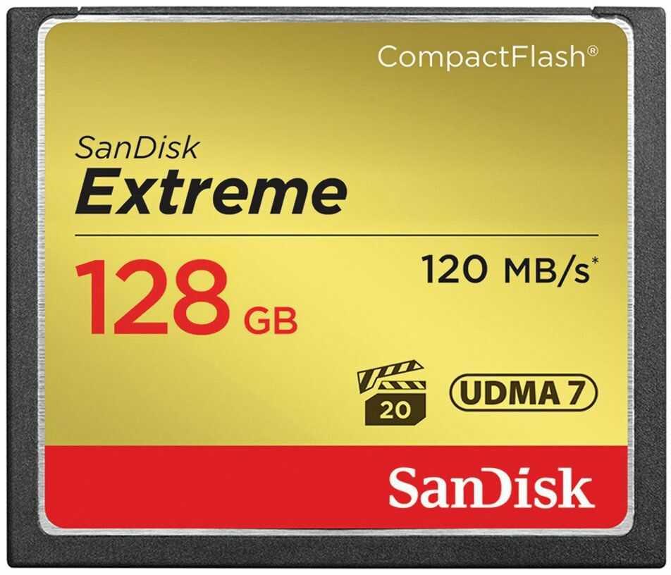 Karta pamięci SanDisk CF 128GB Extreme UDMA 120MB/s