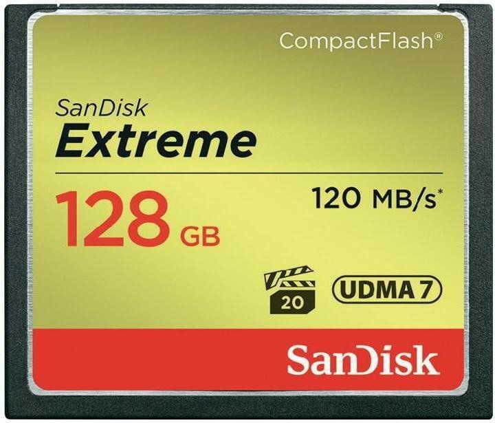Karta pamięci CF - 128GB 120MB/s Sandisk EXTREME