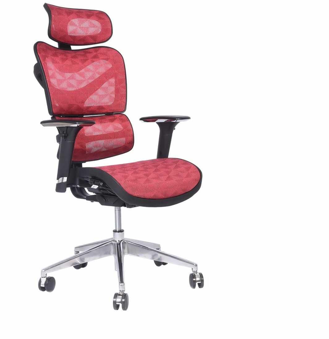 Ergonomiczny fotel biurowy ERGO 600 czerwony
