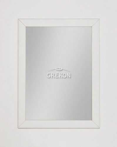 Lustro łazienkowe białe 60x80cm, Styl Skandynawski, Gante Finea