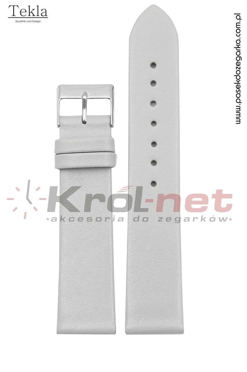 Pasek TK118SZ/22 - szary, gładki