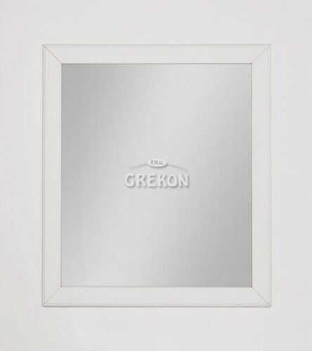 Lustro łazienkowe białe 70x80cm, Styl Skandynawski, Gante Finea