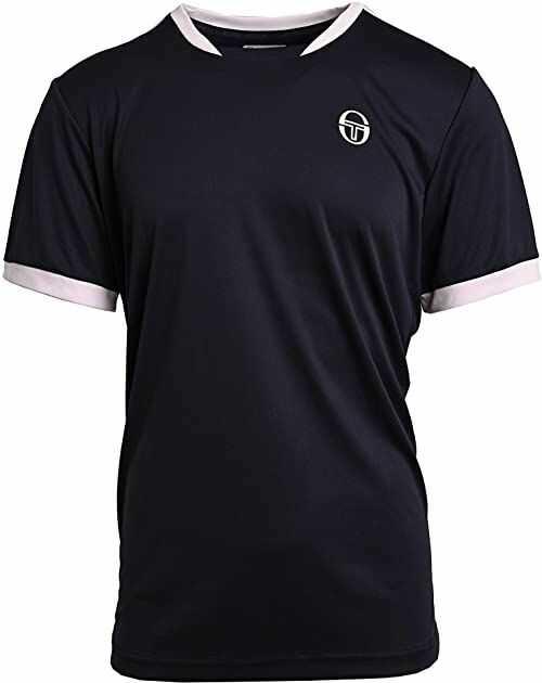 Sergio Tacchini Męska koszulka Club Tech T-shirt męski niebieski granatowy/biały S