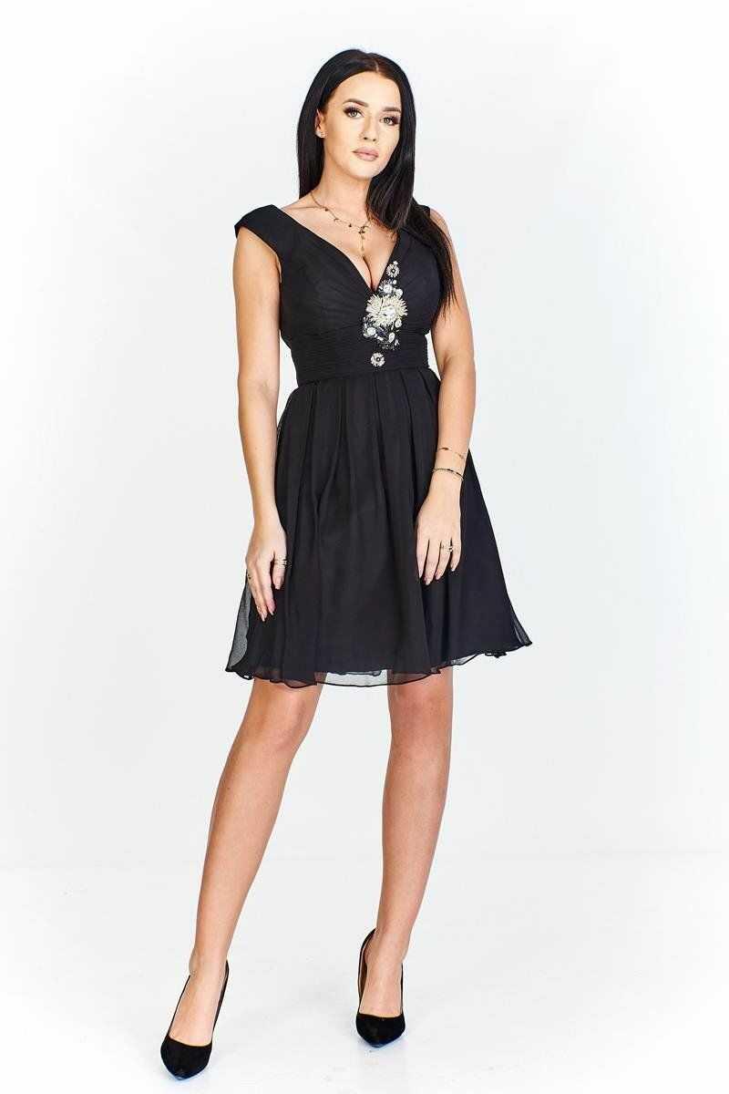 FSU710 Suknie wizytowe Sukienka CZARNY