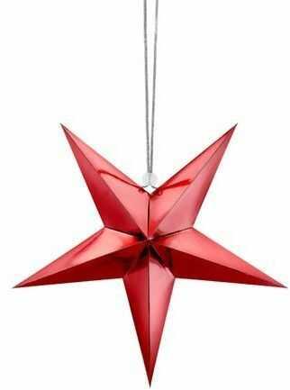 Gwiazda papierowa 30cm czerwona 1szt GWP1-30-007M