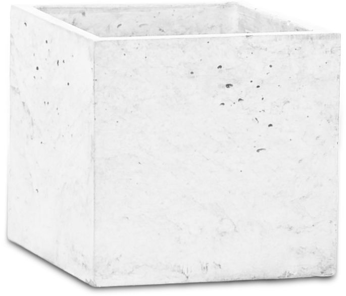 Donica betonowa S 14x14x15 biały