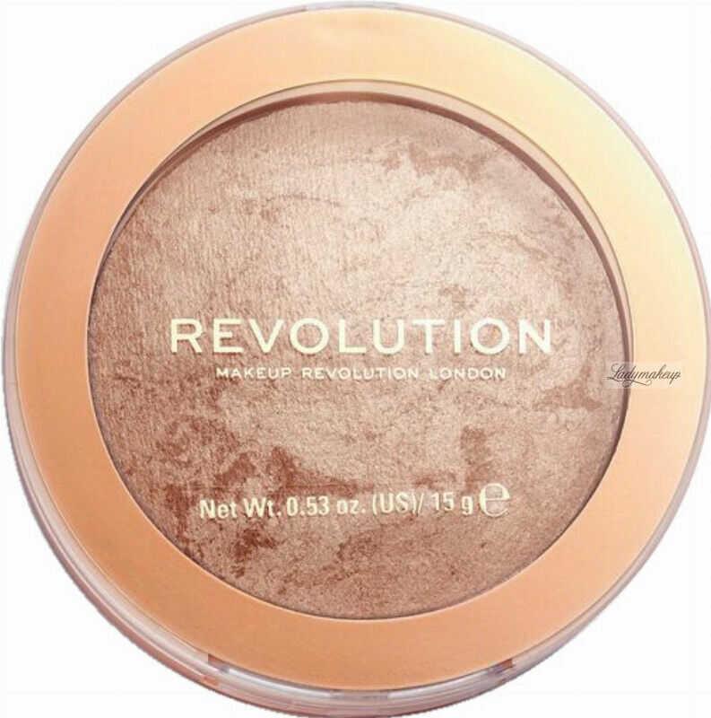 MAKEUP REVOLUTION - BRONZER RELOADED - Wypiekany bronzer do twarzy - HOLIDAY ROMANCE