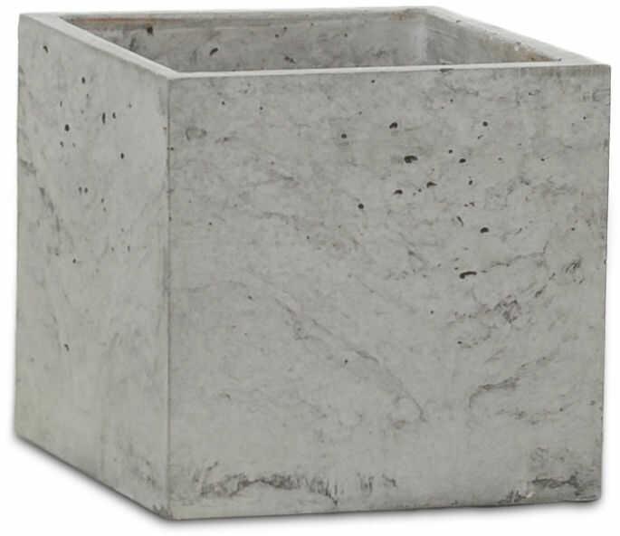 Donica betonowa S 14x14x15 szary naturalny