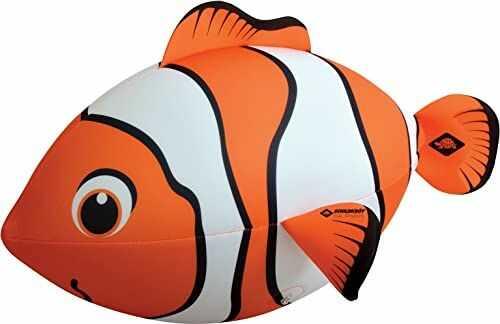 Schildkröt 970195 neoprenowa ryba, ogromna ryba do nadmuchiwania, z zaworem do piłki wodnej, 67 x 40 cm, o wyglądzie ryby klauna