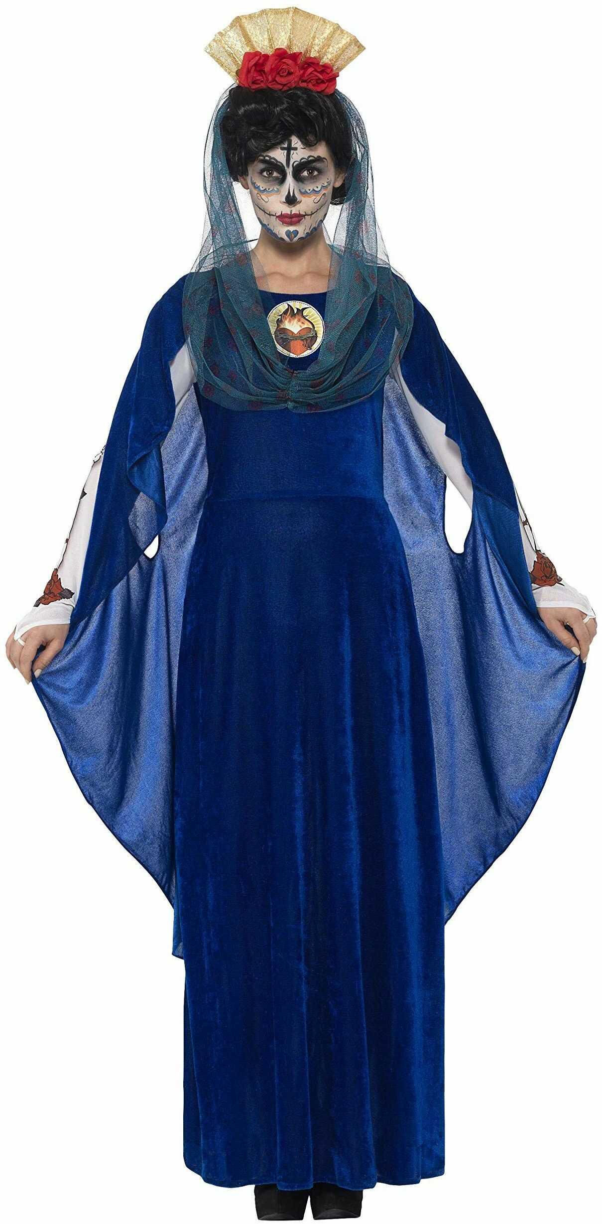 Smiffys 44934X1 kostium damski Dzień Zmarłych Świętej Maryi (XXL)