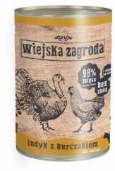 Wiejska Zagroda Indyk z Kurczakiem Dla Kociąt 400 g