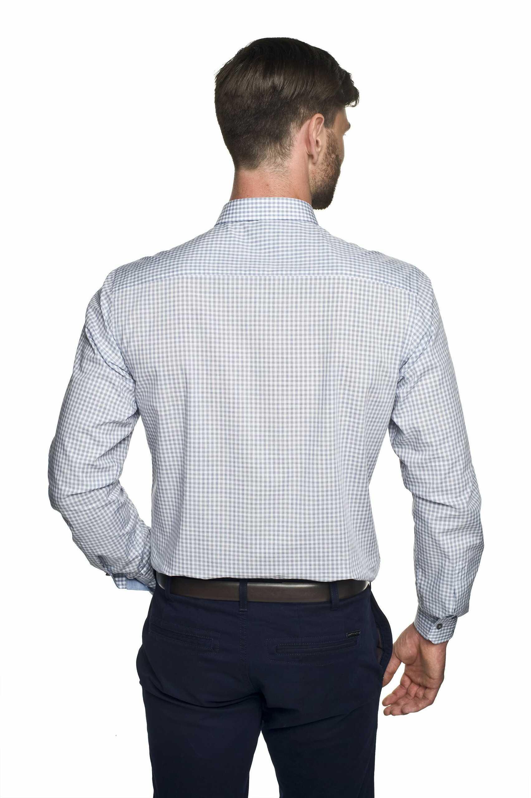 koszula winberg 2561 długi rękaw custom fit szary