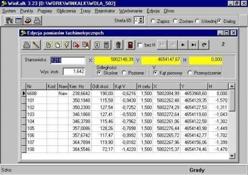 Program Winkalk 3.9