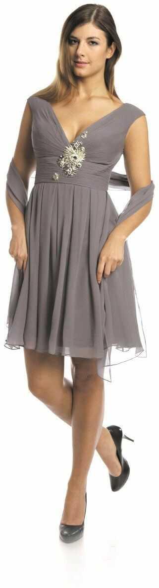 FSU710 Suknie wizytowe Sukienka SZARY