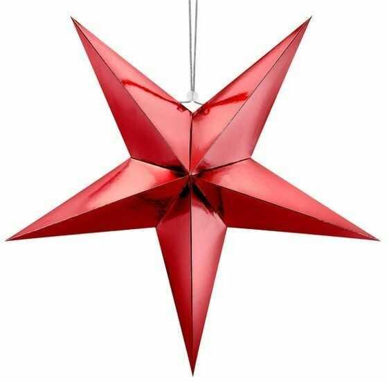 Gwiazda papierowa 70cm czerwona 1szt GWP1-70-007M