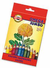 Koh i noor Jumbo Kredki Omega 10mm 24 kol