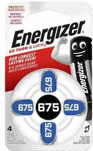 4 x baterie do aparatów słuchowych Energizer 675