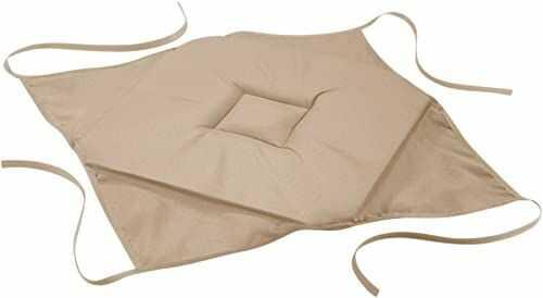 Douceur d''Intérieur Essentiel poduszka na krzesło, z 4 nakładkami, poliester, 36 x 36 x 3,5 cm, poliester, len, 36 x 3,5 x 36 cm