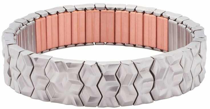 Bransoletka magnetyczna flexi 3270-1 z zakrzywionymi elementami ze stali nierdzewnej
